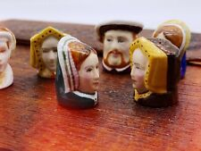 More details for sutherland character heads henry viii and his six wives porcelain thimbles