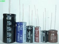 12Value 100pcs 25V Radial Electrolytic Capacitor Assortment assorted Kit brand