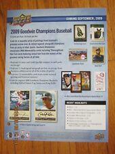 Promo Sheet - Goodwin Champions 2009 - Derek Jeter Michael Jordan - Upper Deck