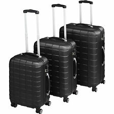 tectake 402669 Set de 3 Valises Trolley Rigides - Noir