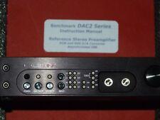 Benchmark DAC2 HGC balanced 32-bit DSD DAC/digital preamp 100-240v $2000 List !