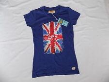 South Beach T Shirt/Top Size L Blue  with Union Flag & 1979 Logos BNWT