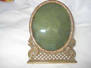 Antiker Bilderrahmen Bronze feuervergoldet Stand Rahmen 19.Jh. Unikat Akantus