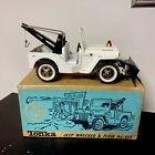 Vtg 1960s Pressed Steel Tonka # 435 AA Jeep Willys Wrecker Truck w Plow Box