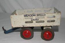 1930's Marx Pressed Steel Meadowbrook Dairy Trailer, Original #1