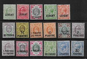 (16) Br Levant EDVII-GV Mint Collection (17v)