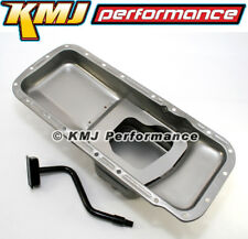 BB Mopar 7 qt Steel Oil Pan and Pickup Tube - Center Sump 383 400 B 413 440 RB