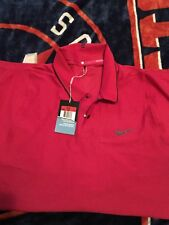 Tiger Woods Nike Golf  Vented Short Sleeve Polo Shirt Large Red New With Tags