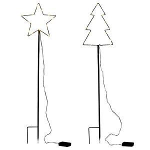 100cm Traditional Decorative LED Star & Christmas Tree Design Garden Light Décor