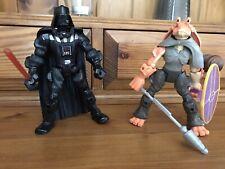 "Star Wars Héroe Mashers 6"" Figuras Darth Vader Jar Jar Binks y"