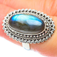 Labradorite 925 Sterling Silver Ring Size 6.5 Ana Co Jewelry R53088