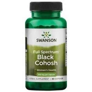 FULL SPECTRUM BLACK COHOSH 540MG X 60 CAPSULES STRESS RELIEF