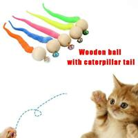 1/3/5Pcs Wiggly Cat Toy - Simulation Worm Toys With V7F5 For Pet Bell T5W6