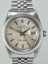 Gorgeous Rolex 1603 Pie Pan Stainless Steel 1977 Caliber 1570  Authenticity Cert