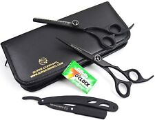 "6"" Professional Barber Hairdressing Scissor Haircutting Thinning Shear w/ Razor"