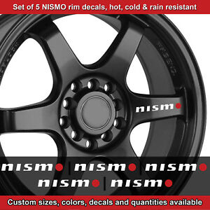 Nismo rim decal sticker adhesive all nissans 5 DECALS wheels handles 2.5wro etc
