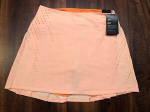 NWT Nike Golf Pleated Women's Skirt Skort Size XL Light Orange