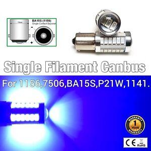 1156 BA15S 7506 P21W 3497 SMD Canbus LED Blue Backup Reverse Light Bulb M1 MA