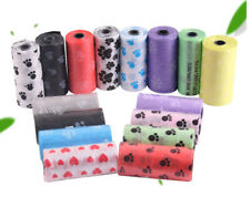 5Roll 75pcs Degradable Pet Waste Poop Bags Dog Cat Clean Up Refill Garbage bags