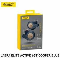 Jabra Elite Active 65t Copper Blue Wireless Earbuds w/ Portable Charging Case