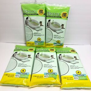 Purina Tidy Cats Breeze Pads Refill 5 Packs of 4 Pads Total 20 Cat Pads