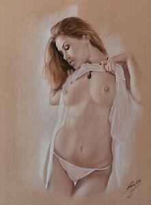 "Original   Pastel Drawing ""Sarafine"" by DP Kunst"