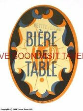 Scarce France Petit Diene Table Biere Tavern Trove French Beer Label