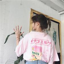 Summer dress Korean girl cute cartoon stamp loose T-shirt casual printed top tee