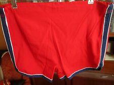 32/34 True Vtg 70s CLASSIC RED SWIM BANANA TRUNKS Shorts