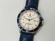 Swiss Military Hanowa Flagship Men's Blue Leather Strap Watch 6-4161.2.04.001.03