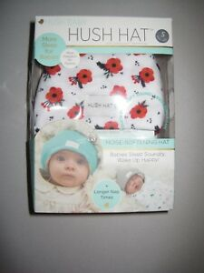 Hush Baby Hat with Softsound Technology Absorbing Foam, Snow Poppy, Red, Small