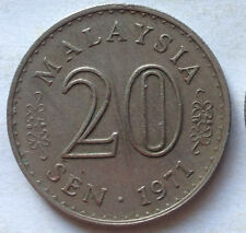 Parliament Series 20 sen coin 1971 (A)