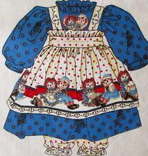 "1 Daisy Kingdom ""Raggedy Ann & Andy"" Doll Dress Cotton Fabric Sewing Panel"