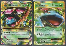 M VENUSAUR EX #2/108 & VENUSAUR EX #1/108 - XY EVOLUTIONS Pokemon Cards-MINT