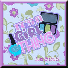 MY 1st HAIRCUT TITLE GIRL EMBELLISHMENT Paper Piecing card toppers scrapbooking