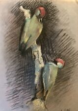 1920s French Pastel Painting On Paper