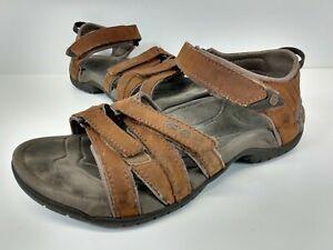 Teva Tirra 4177 Women's Strappy Slingback Leather Sport Sandals Size 5.5 Brown