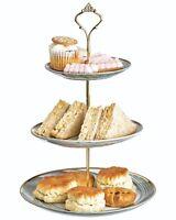 3 TIER VINTAGE FLORAL CERAMIC CAKE STAND CUPCAKE WEDDING PLATE TEA A7