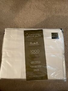 Wamsutta Dream Zone PimaCott 1000 Thread Count KING Sheet Set -STRIPE IVORY