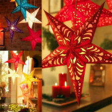 Christmas Fairy String Star Window Hanging Xmas Tree Ornament Party Decoration