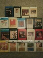 8 track tapes lot 19 (5 factory sealed unopened)