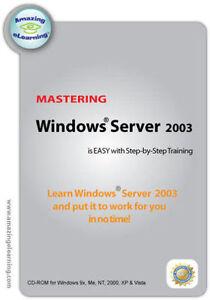 Microsoft Windows Server 2003 Software Training Tutorial   Brand New