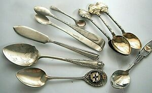 Antique SilverPlate  Teaspoons & Tongs