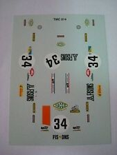FERRARI 365 GTB4 DAYTONA LE MANS 1973 FISONS N.34 1/43 DECAL NEW
