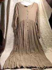 Women's Dress By MJ Apparel Large Flax Color ShellButtons Beautiful Dress NWOT!!