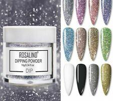 Dipping Powder Set Nail Art Polish Holographic Glitter Shining Chrome Acrylic