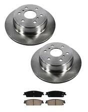 Disc Brake Rotor Rear (2) 55133 With Ceramic Pads Fits For 07-15 Tahoe Rear