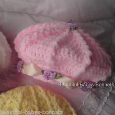 CROCHET PATTERN by Beautiful-Babys-Bonnets for Girls Hat in  3 Styles 0-3yrs #20