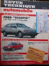 Ford SCORPIO 1.8 2.0 Twin-Cam : revue technique RTA 510