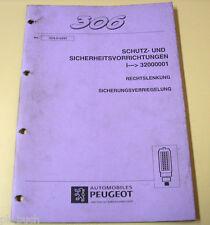 Werkstatthandbuch Peugeot 306 Sicherungsverriegelung Stand 03-1997